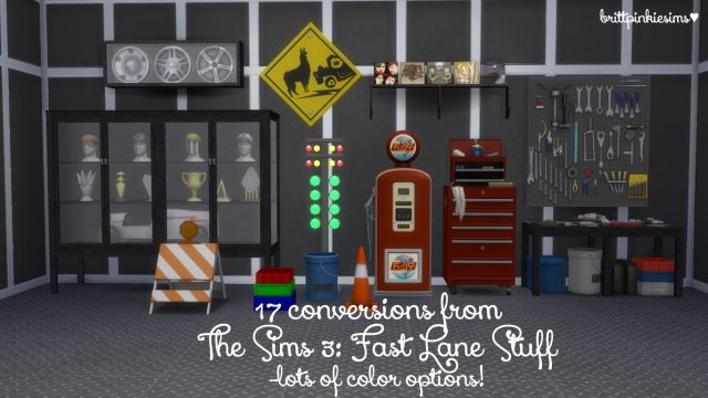 TS3 Fast Lane Stuff Conversions by BrittPinkieSims