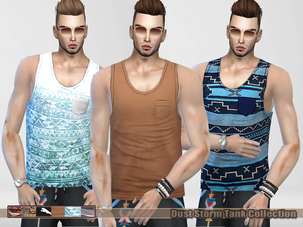 Dust Storm Tank Tops Collection (male) by Pinkzombiecupcakes