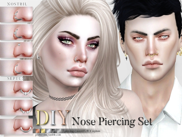 DIY Nose Piercing Set by Pralinesims