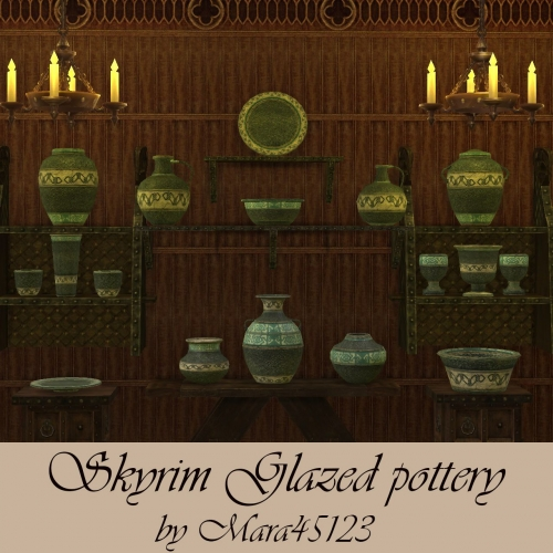 Skyrim Glazed pottery by Mara45123