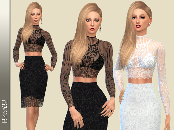 Modern lace dress by Birba32