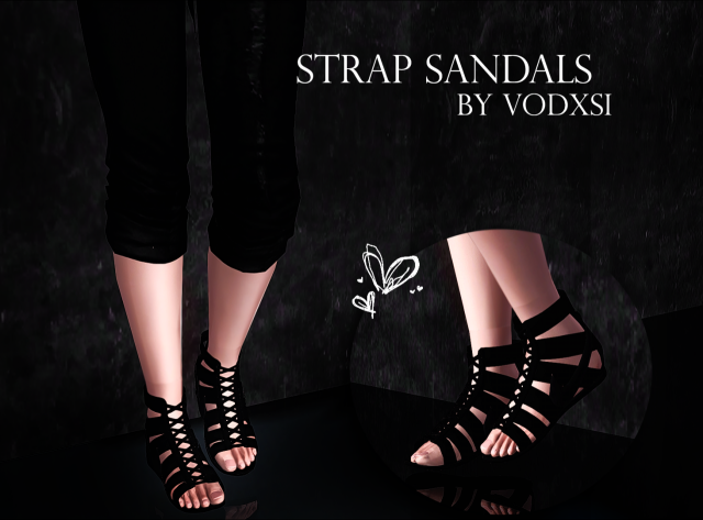 Strap Sandals by Simplyiridescentsims