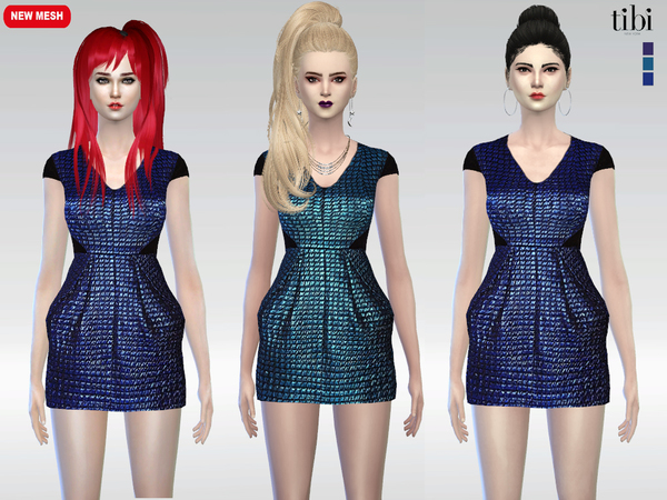 Vette Metallic Jacquard Dress by McLayneSims