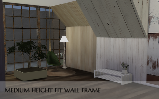 Medium Height Fit Wall Frame by Yumia