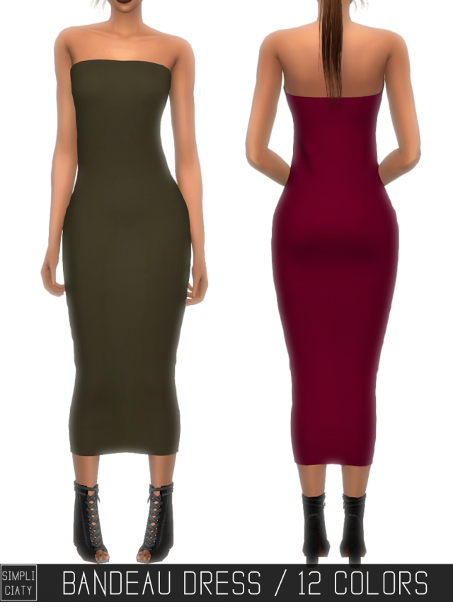 BANDEAU DRESS by simpliciaty