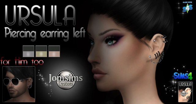 Ursula piercing earrings left by JomSims