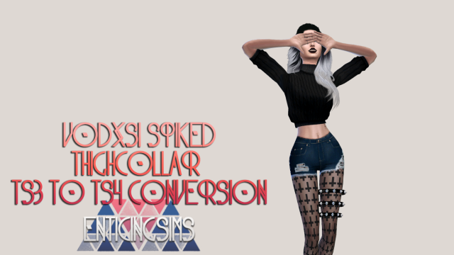 Spiked Thigh Collar TS3 to TS4 Conversion by EnticingSims