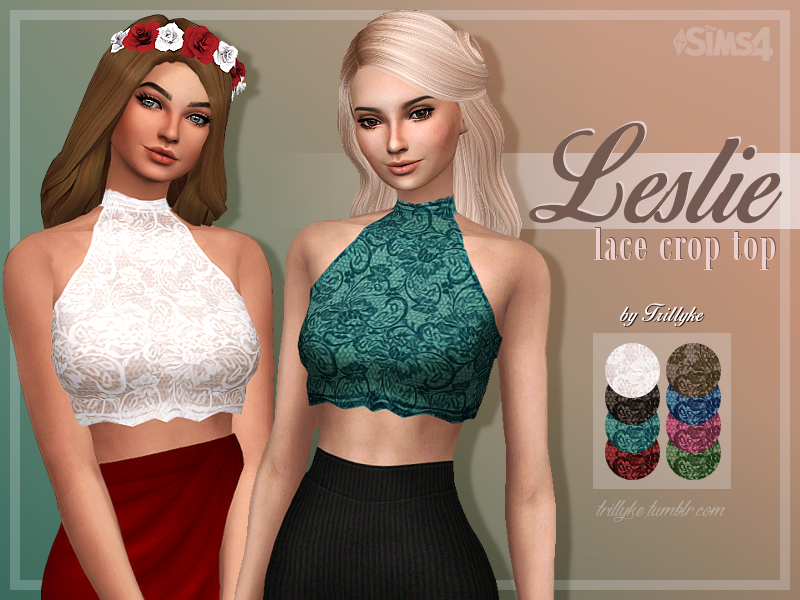 Leslie Lace Crop Top by Trillyke