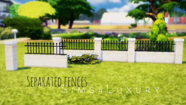 Separated fences #1 by Sims4Luxury