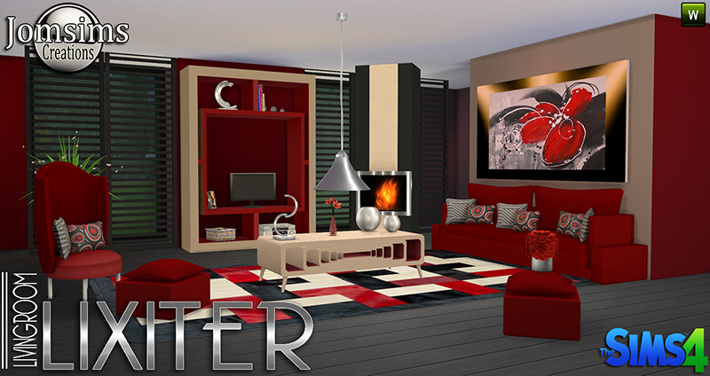 Lixiter Living Room Set by JomSims