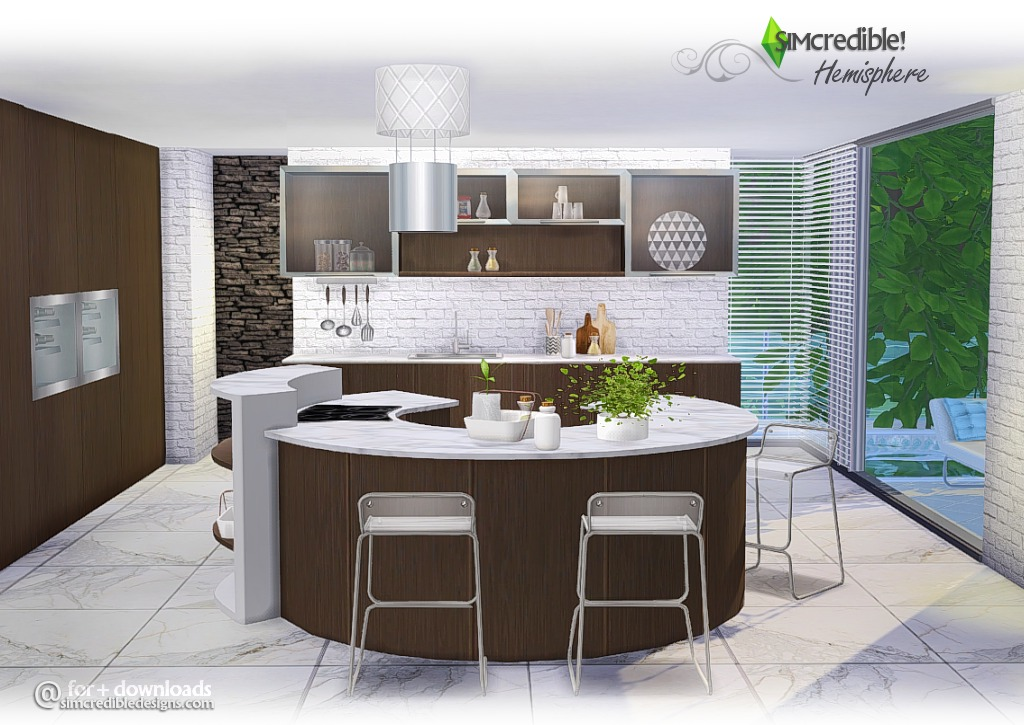 Hemisphere Kitchen Set by Simcredible Designs