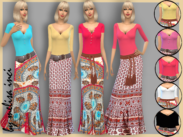 Maxi Flowered Casual Dress by melisa inci