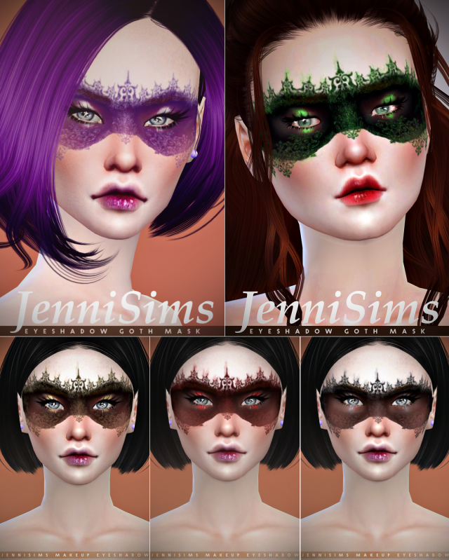 Makeup EyeShadow Goth Mask by JenniSims