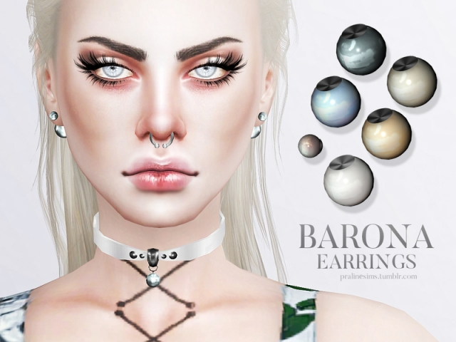 Barona Earrings by Pralinesims