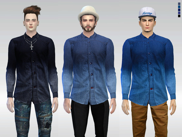 Dip-Dye Mack Denim Shirt by McLayneSims