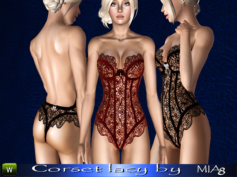 Female lacy corset by mia8