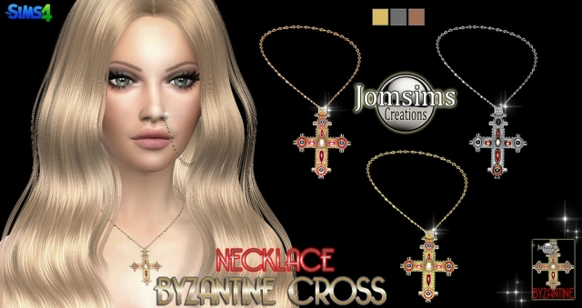 Byzantine cross necklace by JomSims