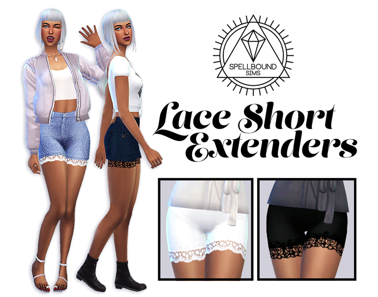 Lace Short Extender by SpellbounSims