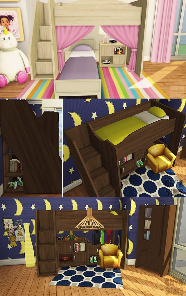 Mobby Loft Bedroom Set by KiaraRawks