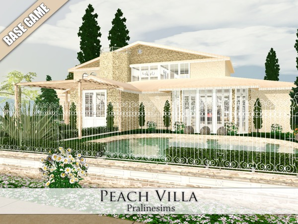 Peach Villa by Pralinesims