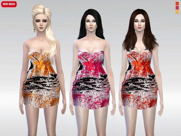 Harsh Print Jacquard Dress by McLayneSims