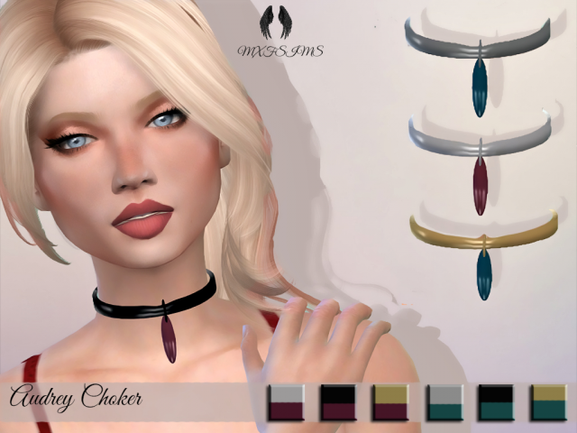 Audrey Choker by mxfsims