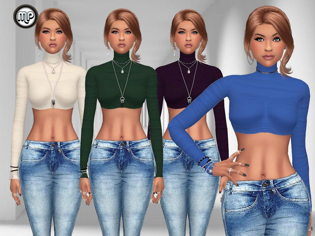 MP Turtleneck Crop Top by MartyP
