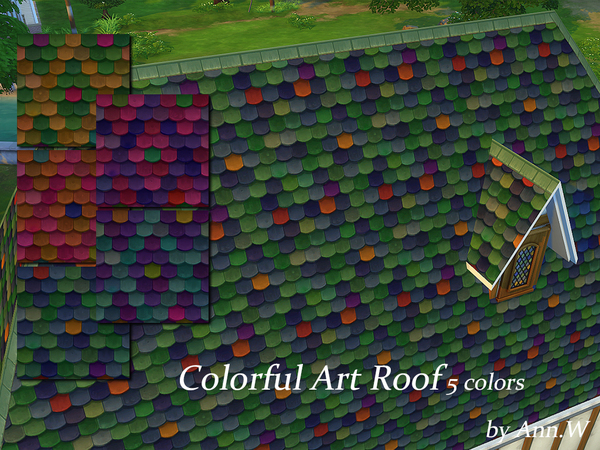 Colorful Art Roof by annwang923