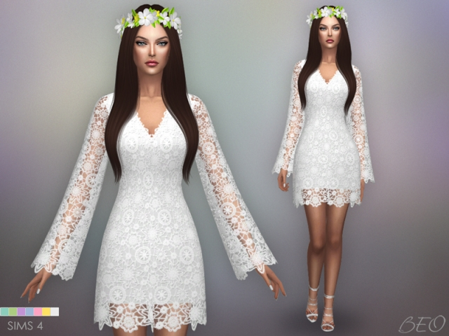 Bohemian wedding dress by BEO