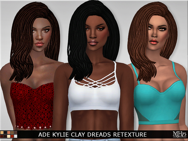 S4 Ade Kylie Clay Dreads [Mesh Needed] by Margeh-75
