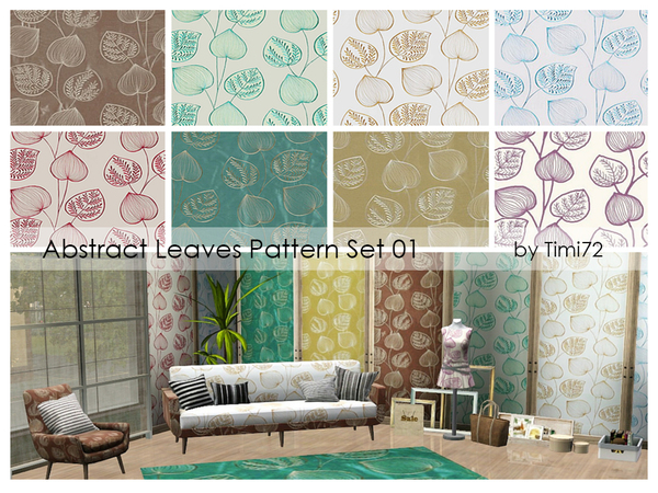Abstract Leaves Pattern Set 01 by timi72