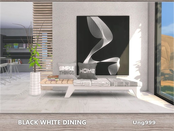 Black White Dining by ung999