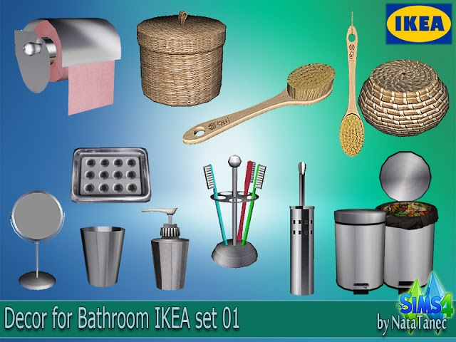 Decor for Bathroom IKEA set 01 by Natatanec