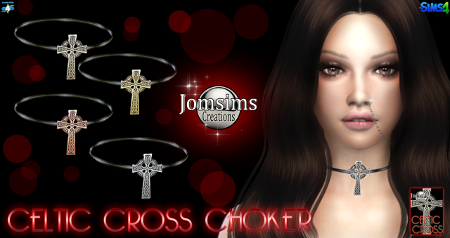 celtic cross choker by JomSims