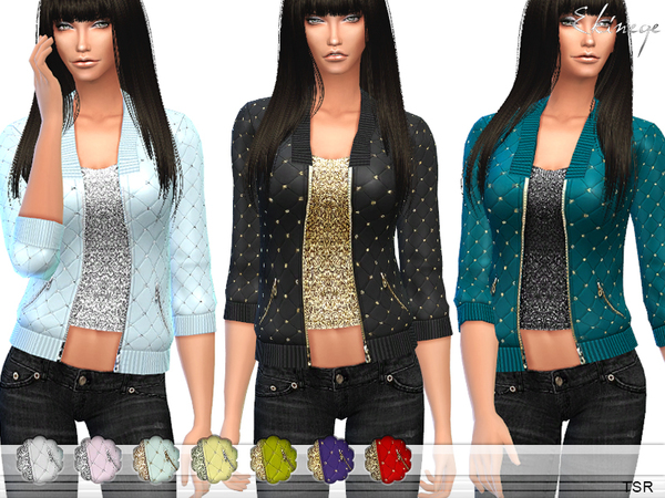 Embellished Quilted Jacket by ekinege