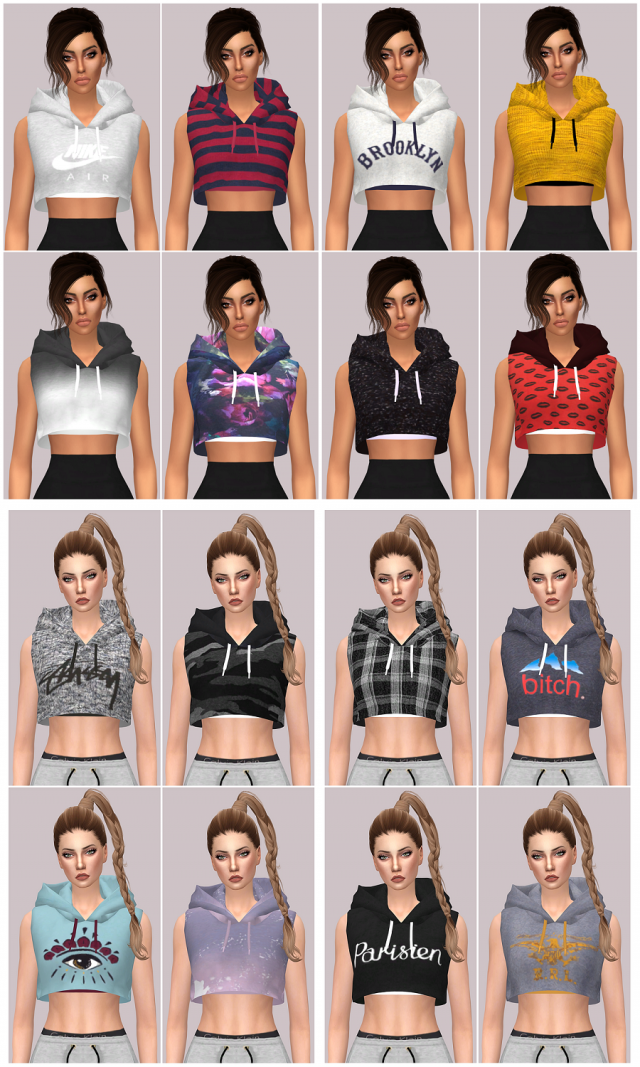 Sleeveless Crop Hood by Lumy-sims & Kenzar