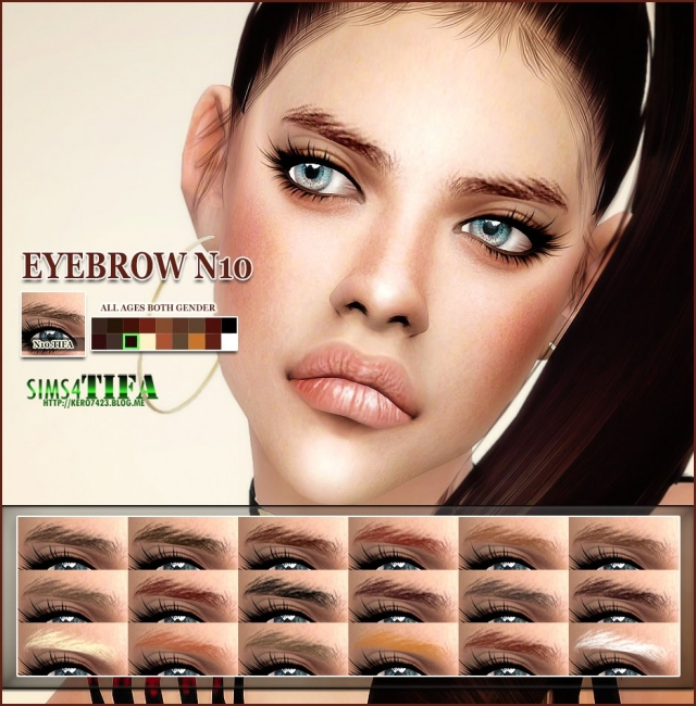 Eyebrow N10 Male & Female by Tifa