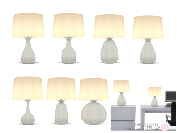 Ceramic Lamp Set by DOT