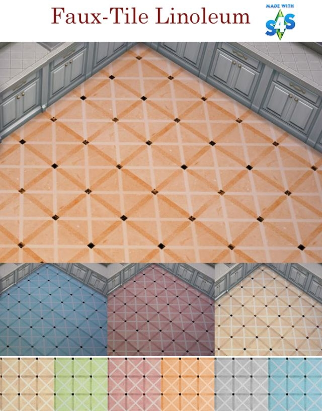 Faux-Tile Linoleum by SimsFanForever