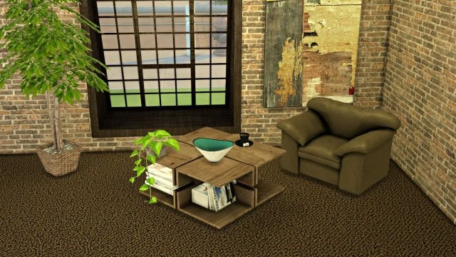 Coffee Table and Armchair by Leo-Sims