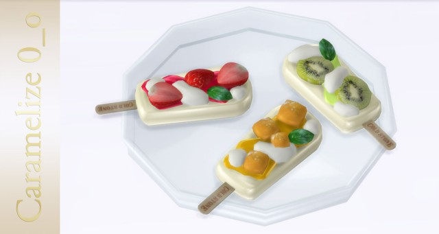 Fruit Popsicle Set by Caramelize