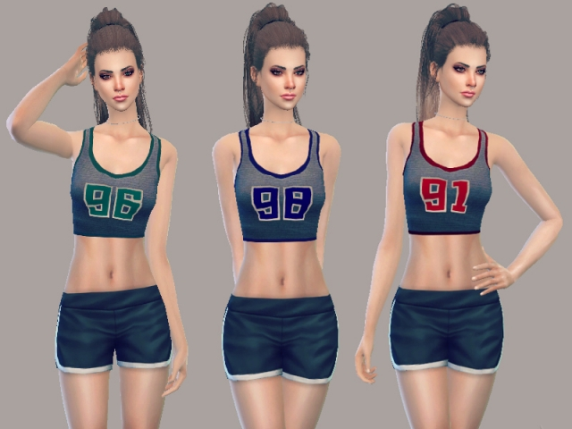 Sporty Crop Top by JulieBFMV