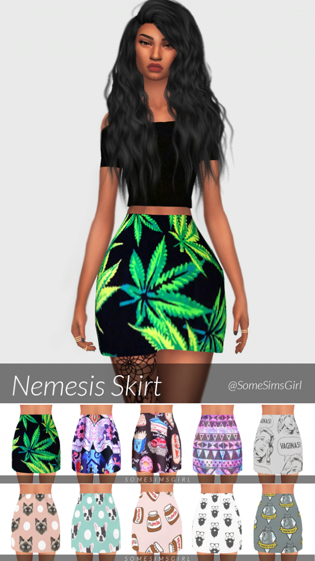Nemesis Skirt by SomeSimsGirl