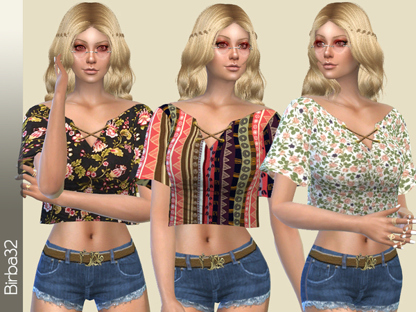 Hippie Floral Top by Birba32