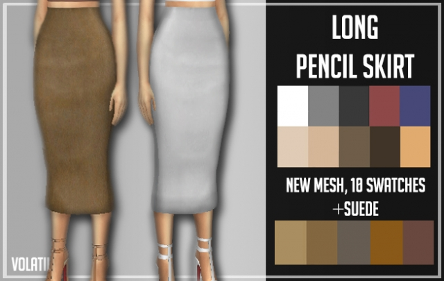LONG PENCIL SKIRT by Volatile Sims