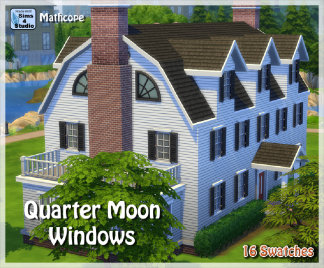 Quarter Moon Windows by Mathcope