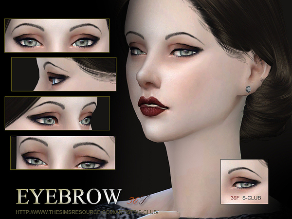 S-Club WM thesims4 Eyebrows36 F