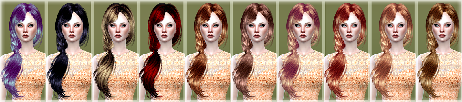 Barbara Hair Retexture by JenniSims