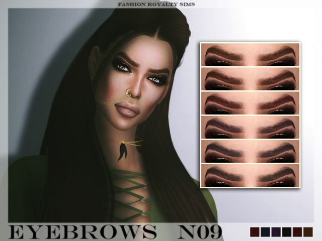 Eyebrows N09 by fashionroyaltysims