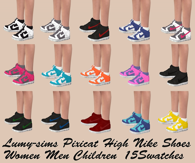 Pixicat Nike High Shoes All by Lumy-sims
